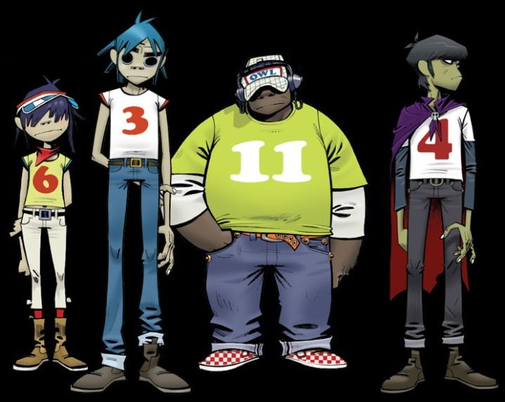 Grupo musical en caricatura
