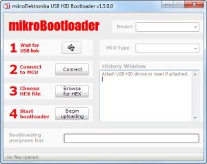 Figura 1. Entorno del programa mikrobootloader