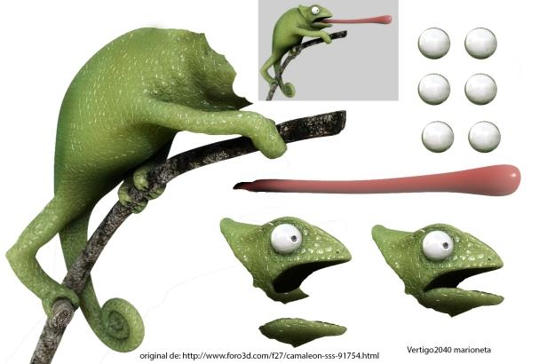 marioneta de un camaleon